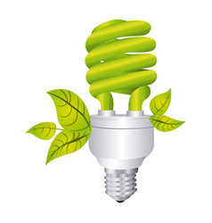 Color silhouette with spiral fluorescent lamp and vector