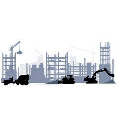 construction and machine equipment vector image