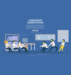 Corporate competition web banner design vector