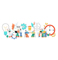 coworking communication with vector image