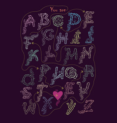 Crypt romantic message - you are perfect vector