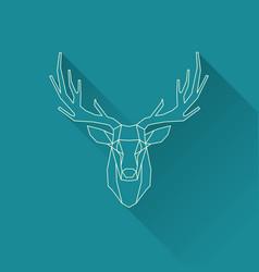 Deer frame invert vector
