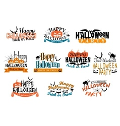 Different party Halloween designs vector image vector image
