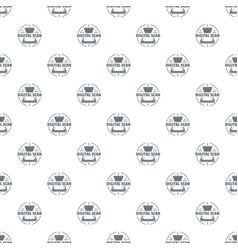 digital scan pattern seamless vector image