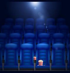 Empty Cinema Hall vector image
