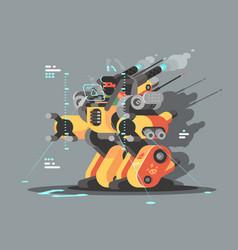 Exoskeleton innovative robot vector