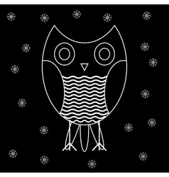 Figure owls to fashion design vector