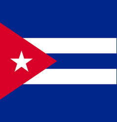 Flag cuba flat icon vector