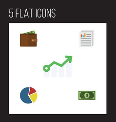 Flat gain set of graph greenback growth and vector