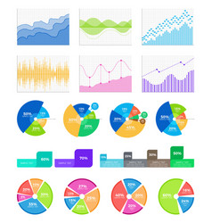 graphics and diagrams to display statistical data vector image