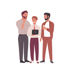 Group men dressed in business clothes or office vector