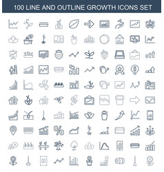 growth icons vector image
