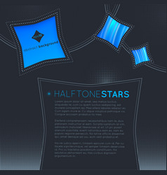 halftone stars abstract background vector image