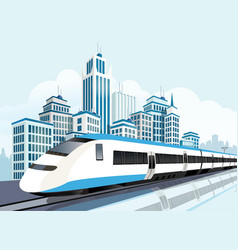 high speed railway for future lifestyle vector image