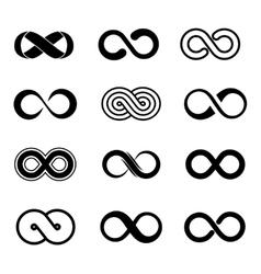 Infinity symbol set vector image