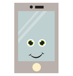 iphone with eyes on white background vector image