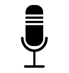 isolated microphone icon vector image