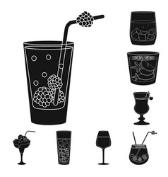 Isolated object club and ingredient icon vector