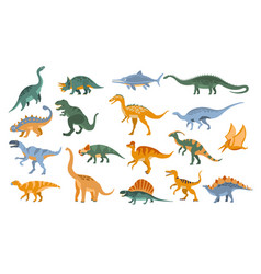 jurassic period dinosaurs set vector image