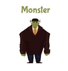 Man dressed in monster costume for Halloween vector