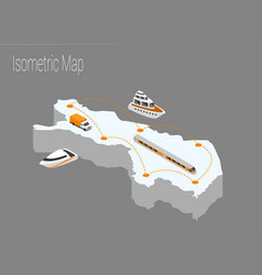 Map finland isometric concept vector