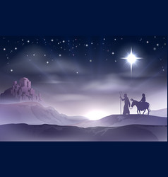 Mary and joseph nativity christmas vector