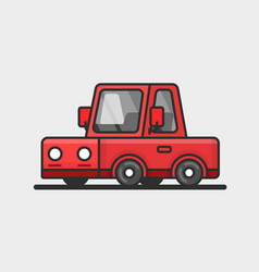 Modern red car icon flat design vector