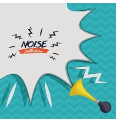 noise pollution design vector image