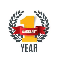 One Year Warranty background vector