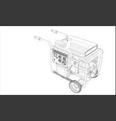 Outline portable gasoline generator vector