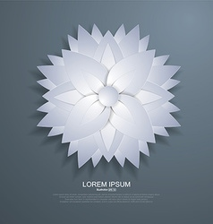 Paper-cut style floral background vector
