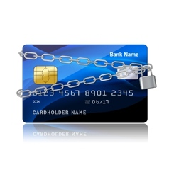 Payment security of credit card with chip vector image