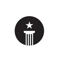 pillar attorney at law icon graphic design vector image