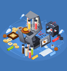 Printing isometric concept vector