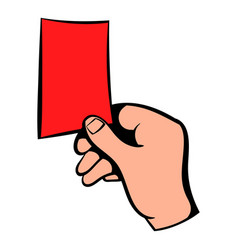 raised red card icon icon cartoon vector image