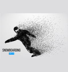 silhouette of a snowboarder isolated vector image