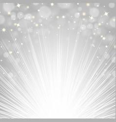 Silver sunburst background vector