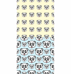 smile face panda seamless pattern vector image