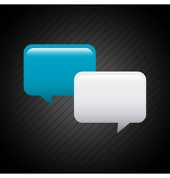 speech bubbles communication icon vector image