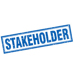 stakeholder square stamp vector image