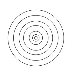 Target the black color icon vector