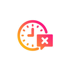 Time icon remove alarm sign vector