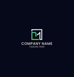 tm letter mark modern logo design vector image