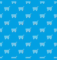 trolley pattern seamless blue vector image