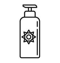 Uv protection lotion icon outline style vector