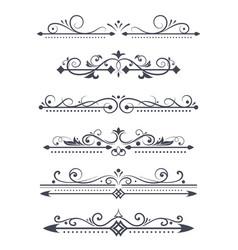 vintage ornamental dividers typographic vector image