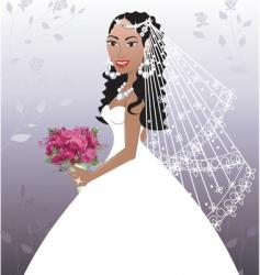 Wedding gown vector