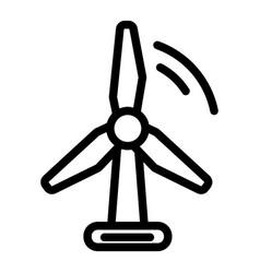 Wind turbine line icon wind energy vector