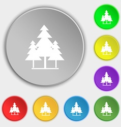 Christmas tree icon sign symbol on eight flat vector