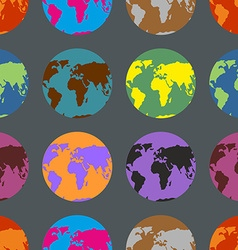 Earth coloured crazy pattern Multi-Colored vector image vector image